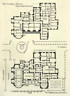 Plan of Pattishall House, Northamptonshire just my holiday house on the beach nothing much