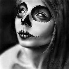 painting skull face woman - Yahoo Zoekresultaten van afbeeldingen