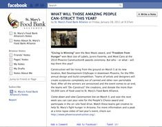 Facebook post for St. Mary's Food Bank Alliance