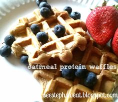 21 day fix recipes: Oatmeal protein waffles