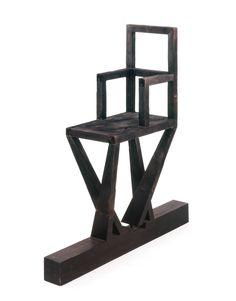 Λουκάς Σαμαράς Μεταμόρφωση καρέκλας Ξύλο καμένο και βαμένο μαύρο 107 x 102 x 30 εκ. 1969-1970