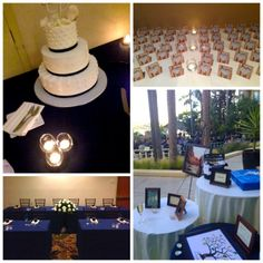 The navy blue details were perfect for this #wedding!