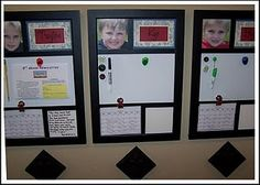 Kid notice boards - instead of homework, I'd love to use them to keep track of the kids dreams, goals, ideas they want to try etc.
