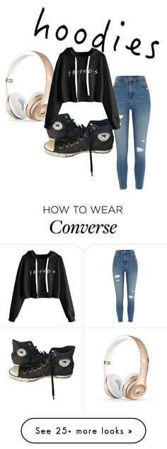 """""""Hoodie Style"""" by ari0907 on Polyvore featuring River Island, Converse and Hoodies"""