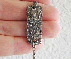 Silver ID Bracelet Silver Ankle Bracelet Fine by GiraffeJewelry, $58.00