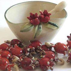 POMEGRANATE~ceramic pomegranate - Hledat Googlem
