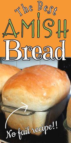 Amish Bread Recipes, Best Bread Recipe, Bread Machine Recipes, White Bread Recipes, Amish Sweet Bread Recipe, Amish White Bread, Homemade White Bread, Homeade Bread, Easy Homemade Bread Recipes