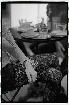 Woman in a coffee bar.