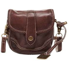 Pre-owned Frye Campus Mini Walnut Cross Body Bag (186,720 KRW) ❤ liked on Polyvore featuring bags, handbags, shoulder bags, walnut, brown leather handbags, leather purse, mini crossbody purse, leather crossbody purse and brown crossbody