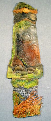 Jennifer Rochester - edge - textile artists scotland - prehistoric