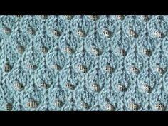 Ажурная сетка / Вязание спицами - YouTube Lace Knitting, Knitting Stitches, Knit Crochet, Knitting Patterns, Crochet Patterns, Knitting Videos, Hobbies And Crafts, Home Art, Lana