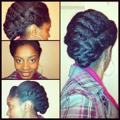Large Flat Twists | Natural Hair