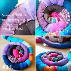 Tutorial Alfombra espiral hecha de camisetas recicladas de algodón. DIY Craft Ideas handmade round rug with tee shirts recycled
