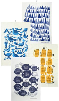 Hand screened tea towels sourced from Fine Little Day Blog.    From:  http://www.kauniste.com/collection.php?lng=en&id=3