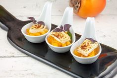 Persimmon and goat's cheese appetizers