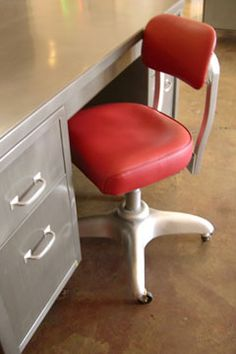 Because I Just Refinished My Tanker Desk (in Yellow) And Canu0027t Stop · Vintage  Office ChairRetro ...