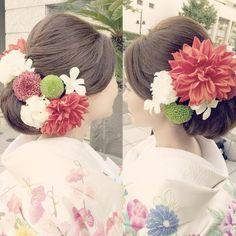 和装に合わせたい髪型はこれ!ほっこり可愛いやまとなでしこ風ヘアアレンジカタログ♡ | marry[マリー] Graduation Hairstyles, Bride Hairstyles, Geisha, Crotchet Braids, Wedding Kimono, Japanese Wedding, Hairdo Wedding, Hair Arrange, Hair Setting