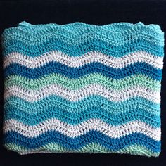 Ripple Stripe Baby Blanket Wave Pattern, Crochet Projects, Blanket, Knitting, Baby, Tricot, Breien, Stricken, Weaving