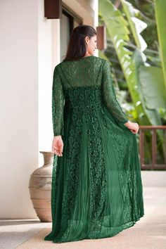 Description Garment Measurements Butter-soft, breathable rayon with nylon floral lace inlays for breezy, all-day comfort. Net Dresses Pakistani, Floral Lace Dress, Black Cotton, Formal, Model, How To Wear, Beauty, Fashion, Preppy
