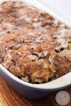 Rabanada de Travessa no Forno Sweet Recipes, Real Food Recipes, Dessert Recipes, Cooking Recipes, Baking Desserts, Healthy Recipes, Portuguese Desserts, Portuguese Recipes, I Love Food