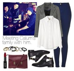 """""""Meeting Calum's family with him."""" by carriolyn ❤ liked on Polyvore featuring Topshop, Peter Jensen, Sophie Hulme and NYX"""