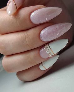 30 Perfect Pink And White Nails For Brides ❤ #weddingforward #wedding #bride #pinkandwhitenails #bridalnails Neutral Wedding Nails, Wedding Nails For Bride, Bride Nails, Wedding Nails Design, Wedding Beauty, Elegant Nails, Stylish Nails, Bridal Pedicure, Pinterest Nail Ideas
