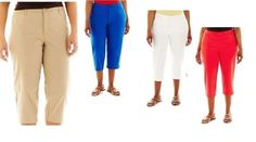 St John's Bay women's plus secretly slender capris size 18W, 20W, 22W, 24W NEW #StJohnsBay #CaprisCropped