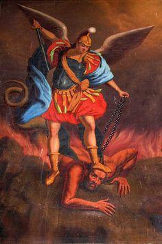 Höllensturz aus der Kirche von Roussillon (Frankreich)