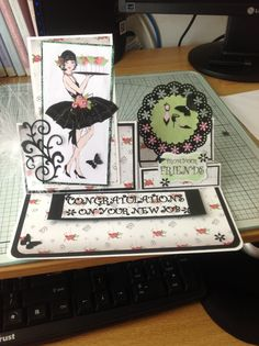 Crafters companion papers and digikit. Stamp Card, My Stamp, Sheena Douglass, Frou Frou, Crafters Companion, Nouvel An, Handmade Cards, Stamps, Projects To Try