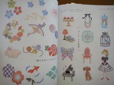 Small and Cute Embroidery Patterns Japanese Craft by pomadour24