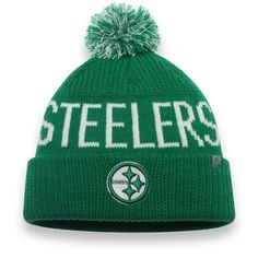 Pittsburgh Steelers NFL Pro Line by Fanatics Branded St. Patrick s Day  Cuffed Knit Hat with 3ab151474