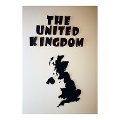 Wall decor, The United Kingdom UK map black