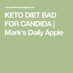 KETO DIET BAD FOR CANDIDA | Mark's Daily Apple