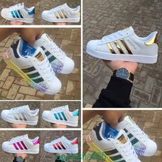 Mens Womens  Lace-up Trainers  Superstars Striped Sneakers Sports Running Shoes