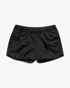 The nylon Swim Short is the quintessential garment for water-related activity. The style features a custom rubber drying-hook, adjustable drawstring waistband, and a back pocket designed for securely storing a credit card. Swim Shorts, Gym Shorts Womens, Underwear, Swimming, Style, Fashion, Swim, Swag, Moda