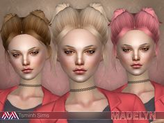 New meshes + HQ texture by me  Found in TSR Category 'Sims 4 Female Hairstyles'