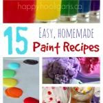 15 Easy Homemade Paint Recipes Your Kids are Going to Love!