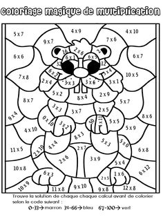 Multiplication Coloring Worksheets Grade Mosaic coloring pages for 4th Grade Multiplication, Third Grade Math, Multiplication Worksheets, Groundhog Day Activities, Math Activities, Math For Kids, Fun Math, School Holidays, School Fun