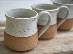 rustic mug, tea mug, stoneware coffee cup, rustic pottery, stoneware cups, minimalist pottery, speckled stoneware, handmade mug, rustic cups by earthformsbymarie on Etsy