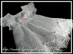 White Dress free crochet graph pattern