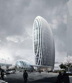 Taipei Nangang Office Tower, #LEED Gold {registered}, Taipei, Taiwan designed by @Aedas