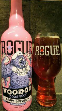 Rogue Voodoo Doughnut Grape Guerrilla. Watch the video beer review here www.youtube.com/realaleguide #CraftBeer #RealAle #Ale #Beer #BeerPorn #RogueAles #RogueVoodooDoughnut #VoodooDoughnutGrapeGuerrilla #AmericanCraftBeer #AmericanBeer