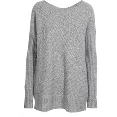 da878534 Reiss Whisper Cable Panel Scoop Neck Knit (€155) ❤ liked on Polyvore  featuring tops, sweaters, jumpers, cable knit sweater, slouchy sweater,  cable jumper, ...