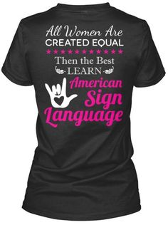 Limited Edition Tshirt. American sign language