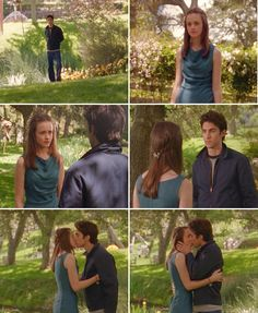 Rory: What are you doing here?Jess: Hello to you, too.Rory: Is everything okay?Jess: You look nice.Rory: Thank you. What are you doing here?Jess: I moved back.Rory: But –-why?Jess: Just wanted to.[Rory kisses him]Rory: Oh my God—oh my God.Jess: Rory—Rory: Don't say a word!Jess: Okay.Rory: I have to go. [Rory runs away] Oh, welcome back!  — 2.22, I Can't Get Started