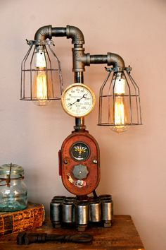 Farmall Dash Lamp Steampunk Industrial Tractor Farm Machine Age Steam Gauge | eBay