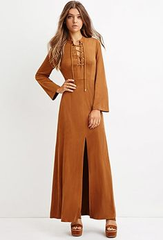 Faux Suede Maxi Dress | Forever 21 - 2000147463