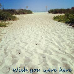 Wish you were here! With us, at the beach!