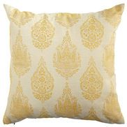 Rambagh Woven Paisley Pillow - Yellow