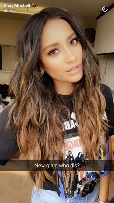 Source: shay mitchell Carmel ombré hair